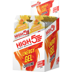 High5 Energy Gel Box 20 x 40g Caffeine Orange